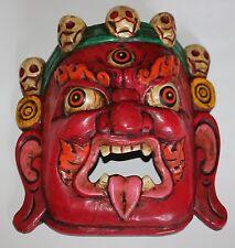 Mahakala Wooden Mask, (Protector), Home Decor, Hand Craved,Nepal, WM-1, New