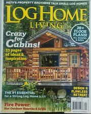 Log Home Living April 2017 Crazy For Cabins Floor Plans Ideas FREE SHIPPING sb