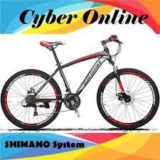 Brand New Cyber 2017 E100 Black&RED X7 26 inch 21 Gears Shimano  Mountain bike