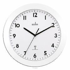 Acctim 74132 CADIZ Radio Controlled Wall Clock White