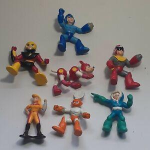 1995 Mega Man PVC Figure Lot Capcom Bandai Scissor man  Protoman Rush Mini 2inch