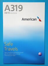 AMERICAN AIRLINES SAFETY CARD--AIRBUS 319