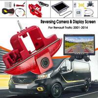 "Reversing Camera Rear View Backup Brake Light & 7"" Monitor For Renault Trafic"