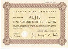 Bremer Woll - Kämmerei 1000DM Bremen Blumenthal 1952