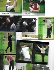 18-CARD LOT OF 2001 UPPER DECK GOLF WITH 3 TIGER WOODS CARDS, NICKLAUS, PLAYER