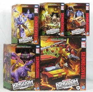Lot 5 Transformers War For Cybertron Kingdom Figures Rodimus Prime Megatron NEW