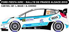 DECALS 1/43 FORD FIESTA WRC #121 - BAUD - RALLYE DE FRANCE 2013 - MF-ZONE D43257
