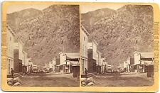 Joseph Collier Stereoview of Alpine Street in Georgetown Colorado 1870s