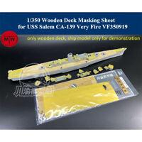 1/350 Wooden Deck Masking Sheet for USS Salem CA-139 Very Fire VF350919 Model