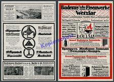 orig. Reklame Buderus Sanitär Hirzenhain Bulgarien Butzke Berlin Kreuzberg 1916