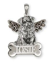 Tibetan Spaniel Angel Personalized Pendant Handmade Sterling Silver Dog Jewelry