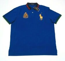 Mens Ralph Lauren Big Pony Crest Polo Large Short Sleeve Classic Fit Royal Blue