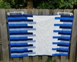 "Quilt 58""x 39"" Handmade Covered Brige Strongsville Ohio"