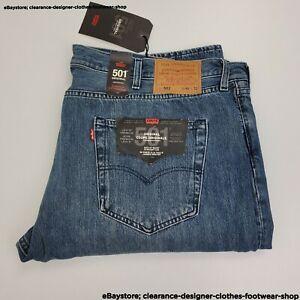 Levis 501 Original Jeans Fit Straight Leg Mens Blue Wash Premium RRP £100