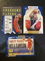 2020-21 NBA Hoops Zion Williamson Vanity Plates Frequent Flyers base lot of 3