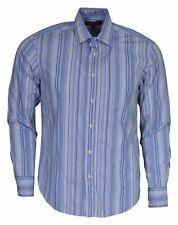 Originale Ben Sherman Blu a Strisce L/S T-Shirt da Uomo TAGLIA S