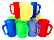 Wholesale Lot 75 Beer Mugs, Holds 1 Pint, Mix Translucent Color Made in America*