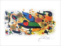 Joan MIRO Sculptures II Signed Offset Lithograph Print & COA