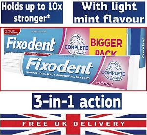 Denture Adhesive Fixodent Cream Plus Strong Hold Best Premium 70g next day deliv
