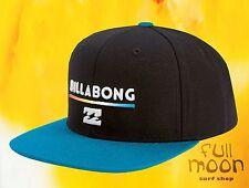 New Billabong System Twill Mens Black Cyan Snapback  Cap Hat
