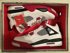 Nike Air Jordan Retro 4 IV Fire Red US 9.5 UK 8.5 (2012) White Infrared Cement