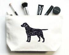 Labrador Make Up Bag, Organic Cosmetic Bag, Canvas Makeup Toiletry Pouch