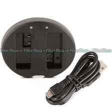 Dual Battery Charger for Canon EOS 550D 600D 650D 700D T5i T4i T2i LP-E8 LC-E8C