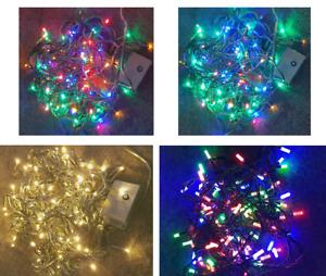 Weihnachts Lichterkette 100 LED Bunt Innen Außen Party 10m Kabel Weiterverbinden