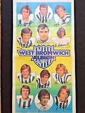 A&BC Gum West Bromwich Albion Football Club 1972-73 No. 13 Giant team Poster