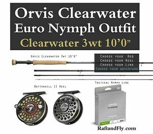 """Orvis Clearwater 3wt 10'0"""" Nymph Outfit Package 