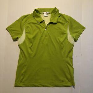 Nike Golf Womens FitDry Polo 1/4 Zip Size Medium Green