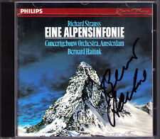 Bernard HAITINK Signed RICHARD STRAUSS Eine Alpensinfonie PHILIPS CD 1986