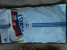 New Mens Adidas Olympique Lyon Football Shirt Techfit Match Issue Top With Cover