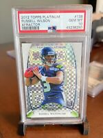 2012 Topps Platinum Russell Wilson X-Fractor Rookie Card RC #138 PSA 10