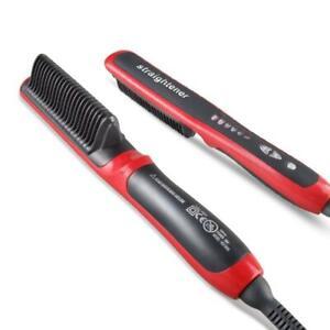 Viyado Hair Straightener Electric Comb Brush LCD Heated Ceramic Quick Beard Curl