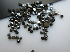 Black Diamond RoseCut Loose Rough Raw Faceted Diamond Cabochon 1mm-2mm 25Pc RU14