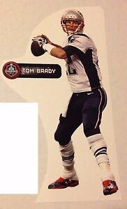 "TOM BRADY + nameplate Patriots Super Bowl XLIX FATHEAD 10"" X 4 1/2"" Vinyl Graph"