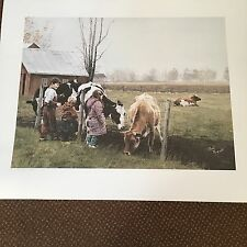 "PAUL RUPERT LITHOGRAPH       ""PASTORALE""  61X75 cm  72 OF 200 PRINTS  30"" X 24"""