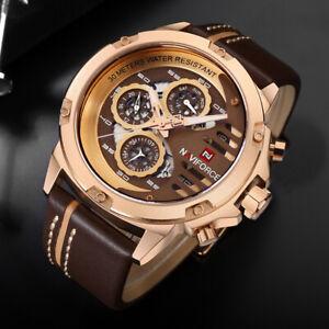 NAVIFORCE 9110 Mens Watches Luxury Waterproof 24 hour Date Quartz Watch Man