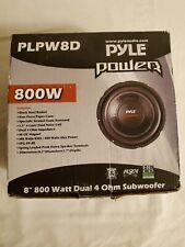 NEW Pyle PLPW8D 8'' 800 Watt Dual Voice Coil 4 Ohm Subwoofer