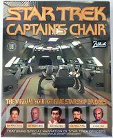 Star Trek Captains Chair 1997 PC CD-Rom Windows/Mac Big Box Virtual Utility -New