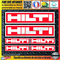 6 Stickers Autocollant Hilti sponsor outillage decal rallye tuning outil