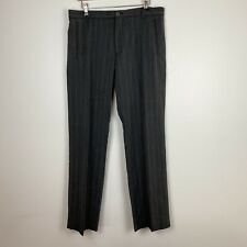 Mossimo Men's Straight Leg Red Trim Grey Tweed Trousers Size 34 ~A11