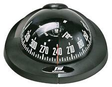 Boat Compass Plastimo Offshore 75 Black Case Black Conical Card 12 Volt Backlit