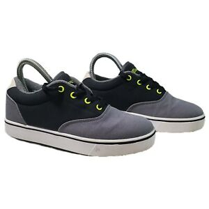 Heelys Launch 770692 Shoes, Youth sz 6 Gray Rollers Excellent Condition