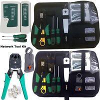 Network Rj45 Cable Kit Tool Tester Crimper Rj11 Ethernet Crimping Lan Punch Tool
