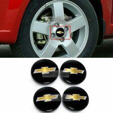 OEM Wheel Center Cap 3D Emblem Cover Glossy Black for Chevrolet 06-10 Sonic Aveo