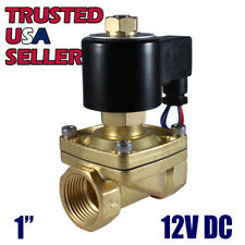 "1"" 12V DC NORMALLY OPEN Electric Brass Solenoid Valve Gas Water 12 Volts DC"