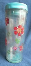 Starbucks Iced Coffee Floral Travel 16 Oz.Tumbler EUC