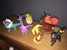 Pokemon Battle Figure Evee Lot Espeon Umbreon Jolteon Flareon Vaporeon + Vulpin